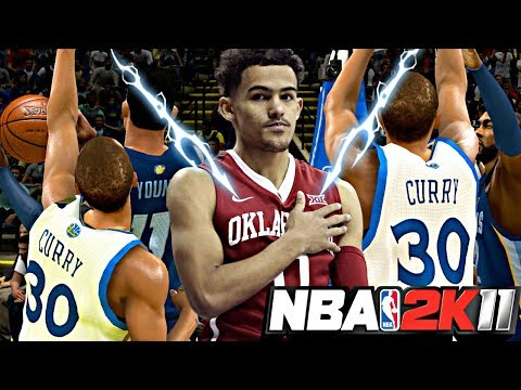 NBA 2K11 MyPLAYER TRAE YOUNG #12 - 1ST GAME AGAINST STEPH CURRY! STEPH SPLASHING 3 AFTER 3 AFTER 3!