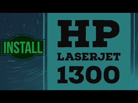 how to install hp laserjet 1300 printer driver on windows 7 and windows 10 both 32 bit and 64 bit