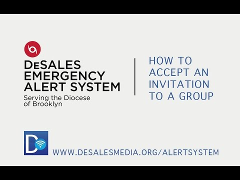 DeSales Emergency Alert System - How to Accept an Invitation to a Group