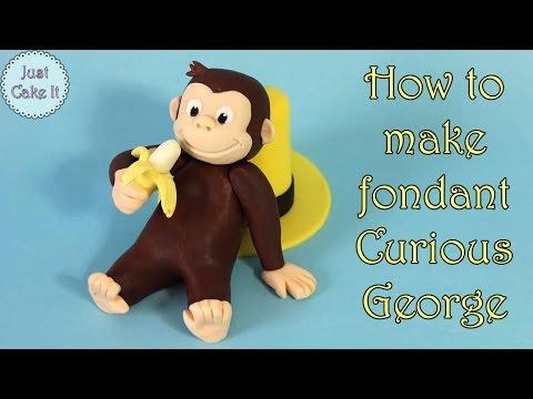 How to make fondant Curious George / Jak zrobić figurkę  Ciekawskiego Georga