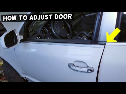 HOW TO ADJUST CAR DOOR THAT DOES NOT CLOSE demonstrated on PORSCHE