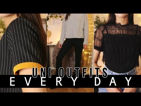 Everyday University Outfits (5 day week)