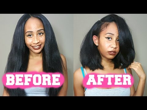 HOW TO CUT A WIG INTO A BOB TUTORIAL  (EASIEST METHOD)!!!