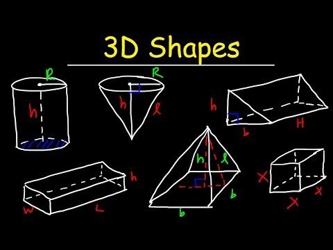 3D Shapes - Faces, Edges, and Vertices - Euler's Formula - Geometry