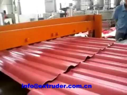 plastic corrugated roofing sheet machine