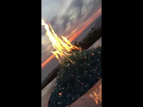 Diamond Fire Glass Sunset Scene in Orange County