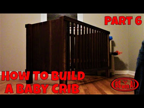 Walnut Baby Crib Build Part 6 (final) How To Apply 100% Tung Oil