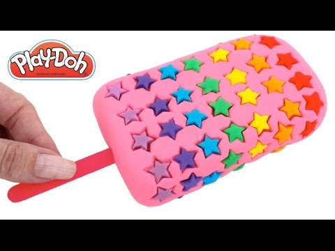 Learn Colors Rainbow Star Play Doh Ice Cream Popsicle RL