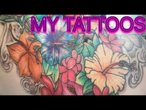 MY TATTOOS! FLOWERS,DOGS AND MORE!   DayInTheLifeOfTaylor