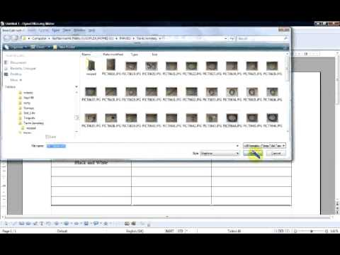 How to make a Photo Contact Sheet in Open Office Writer