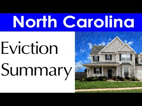 North Carolina Eviction Laws for Landlords and Tenants
