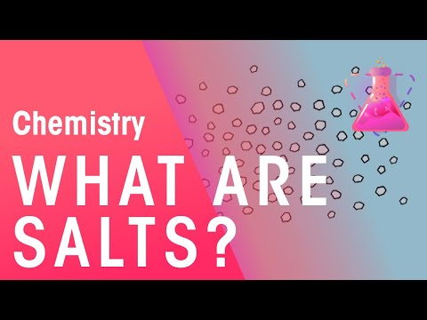 What are salts? | Chemistry for All | The Fuse School