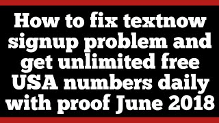 TextNow app (Error has Occurred) Fixed by Suraj Chaudhry
