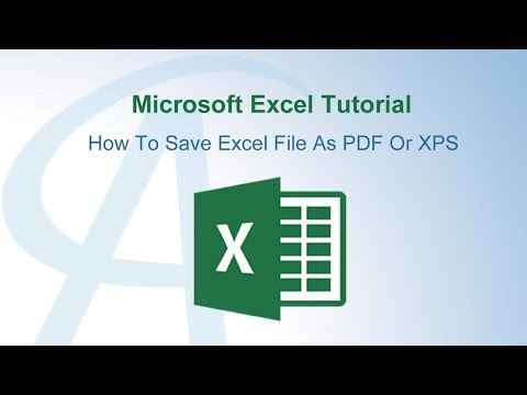How To Save Excel File As PDF Or XPS