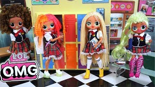Download LOL OMG Doll Family First Day of High School Morning Routine - Barbie Classroom Video
