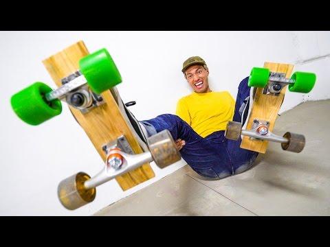 DIY ROLLERSKATES BUILT FROM SKATEBOARD PRODUCTS!!!