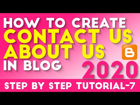 How to Create Contact Us And About Us Page In Blogger Tutorial -7 Hindi/Urdu 2018 [desimesikho]