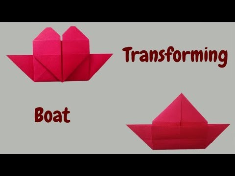 How to Make Origami Heart Boat| Love Boat |Valentine Craft| Paper Boat |Step by Step  Tutorial