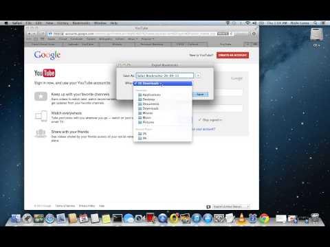 Backup and restore bookmarks / favorites on safari browser
