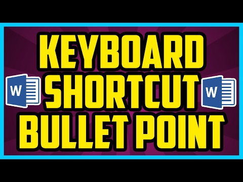 Bullet Point Keyboard Shortcut For Microsoft Word On Windows 10 - Adding Bullet Points With Keyboard