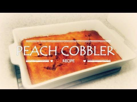 Peach Cobbler Simple Easy and Delicious Recipe