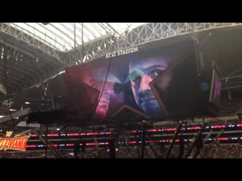 WrestleMania 32 intro and pyro. Live from the AT&T Stadium. Dallas, TX
