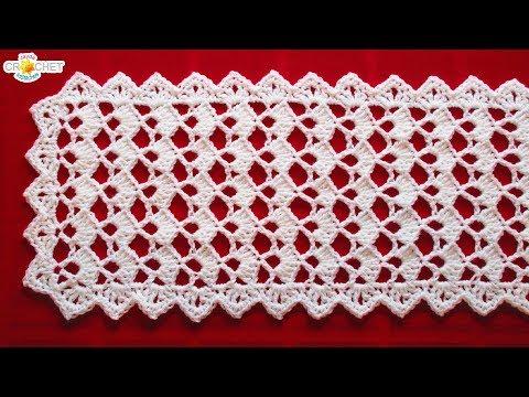 Festive Table Runner Crochet Pattern- Looks Fancy, Easy Pattern!