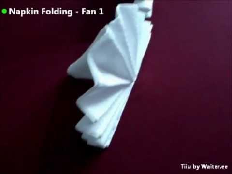 Napkin folding - Fan 1