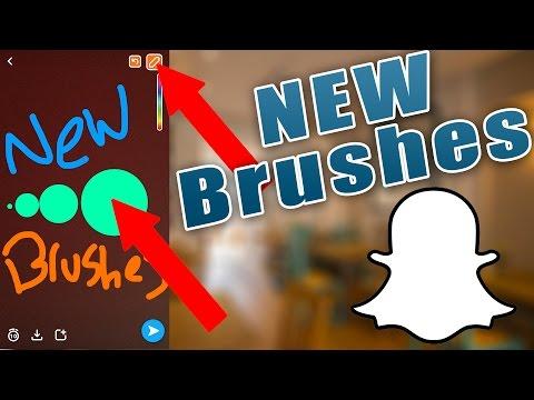 NEW Snapchat Brushes - NEW Snapchat Pencils - Snapchat Hacks - How to Change Brush Size on Snapchat