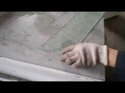 double un flat glass cutting machine RF,cut a leaf
