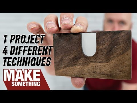 Woodworking Project | 4 Ways to Make a Pocket Business Card Holder