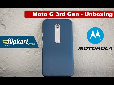Moto G 3rd Generation | Unboxing | India | Flipkart Version