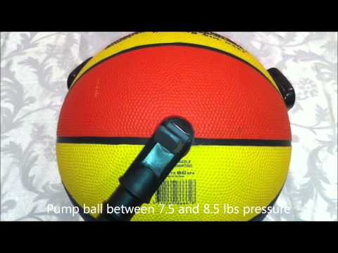 How to pump up a basketball