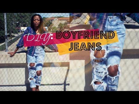 DIY Distressed BoyFriend Jeans!