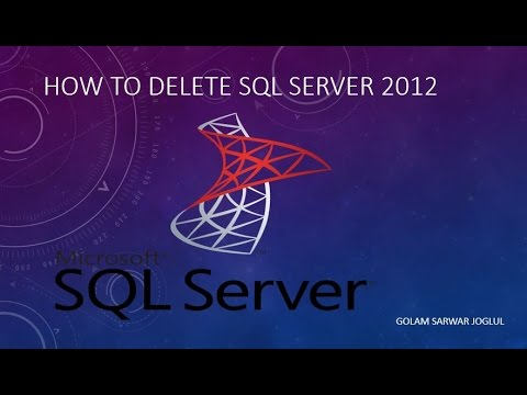 How to uninstall SQL Server 2012 completely.