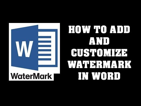 How to Insert Watermark in MS Word Picture Text