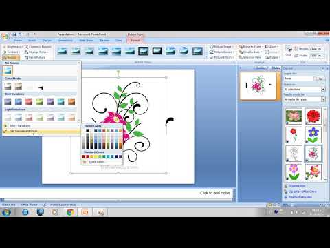 How to Make a picture's background transparent in powerpoint