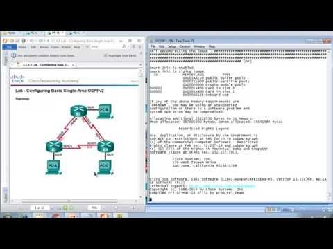 Lab 5.1.1.9 - Configuring Basic Single-Area OSPFv2 - Demonstration CCNA 3 Chapter 5 HD