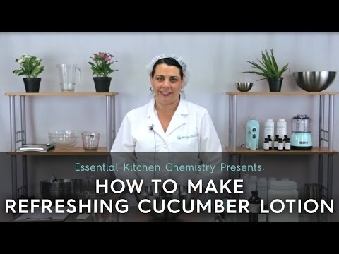 How To Make Refreshing Cucumber Lotion