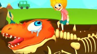 Jurassic Dig Fun Kids Game ! Find Dinosaur Bones With Cute cars! Dino Games For Children