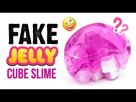 DIY Jelly Cube Slime WITHOUT Sponges or Foam!! Satisfying