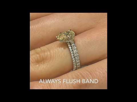 1.50 ct Pear Shape Yellow Diamond Engagement Ring