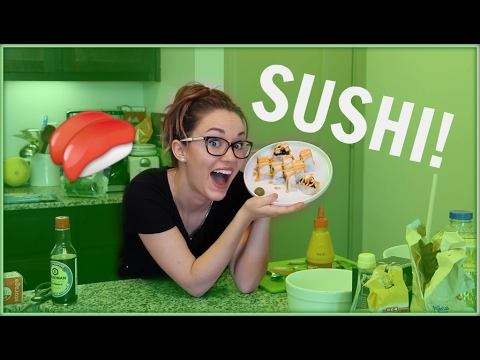 I MADE SUSHI! | How to roll sushi without a bamboo mat.
