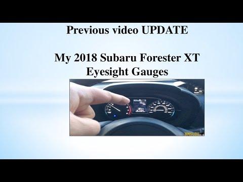 My 2018 Subaru Forester XT Gauges update