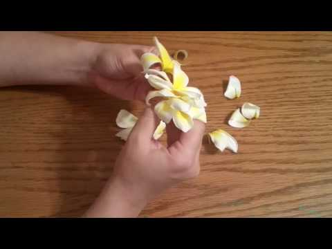 How to make a plumeria cluster hair piece