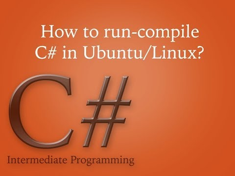 How to run/compile C# application in Ubuntu/Linux?