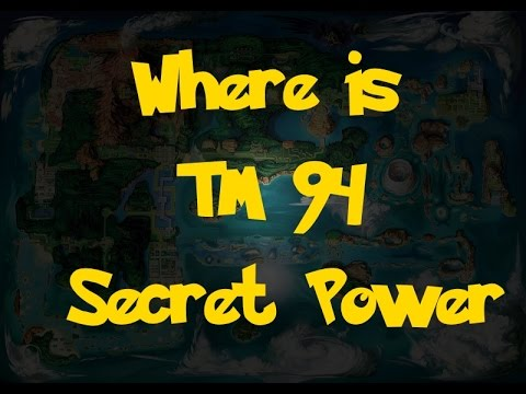 Where Is: TM 94 - Secret Power (Pokemon Alpha Sapphire/Omega Ruby)