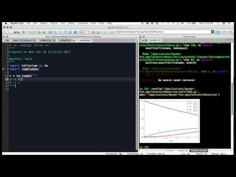 Basic Introduction to Tellurium, a Python based simulator reaction networks
