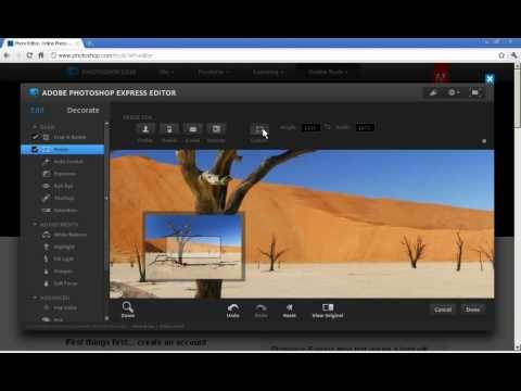 Photoshop Express Editor - crop and resize a photo
