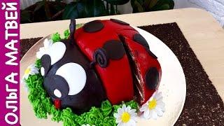 """Торт """"Божья Коровка""""   Lady Bug Cake"""